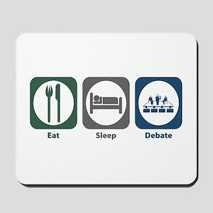 Eat Sleep Debate Mousepad