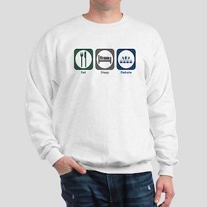 Eat Sleep Debate Sweatshirt
