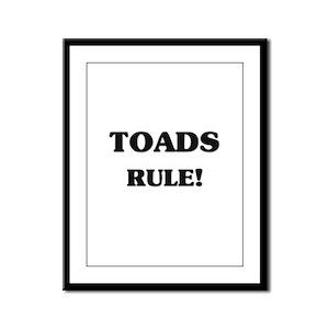 Toads Rule Framed Panel Print