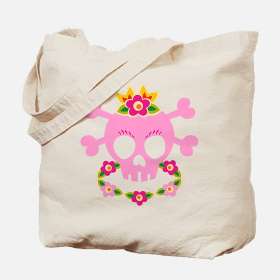 Hawaiian Pirate Skull Tote Bag