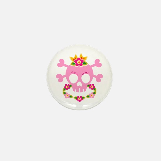 Hawaiian Pirate Skull Mini Button