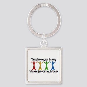 Women Supporting Women Square Keychain