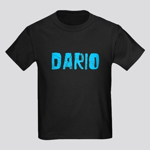 Dario Faded (Blue) Kids Dark T-Shirt