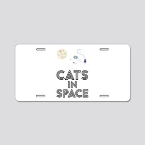 Cats in Space C268b Aluminum License Plate
