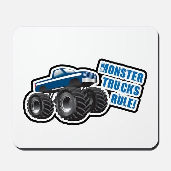 Blue Monster Truck Mousepad