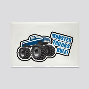 Blue Monster Truck Rectangle Magnet