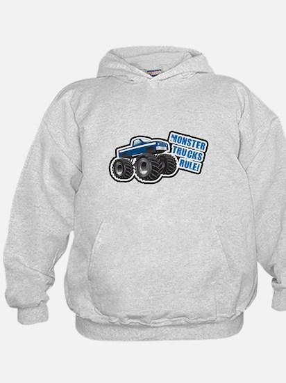 Blue Monster Truck Hoodie