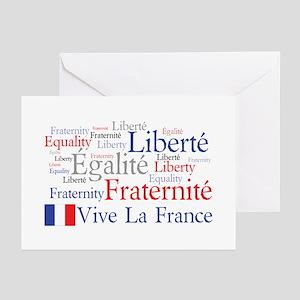 Vive La France Greeting Cards