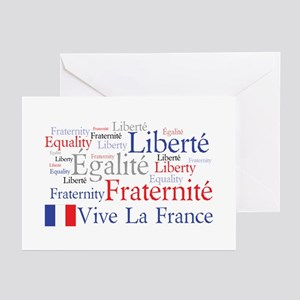 French language greeting cards cafepress vive la france greeting cards m4hsunfo