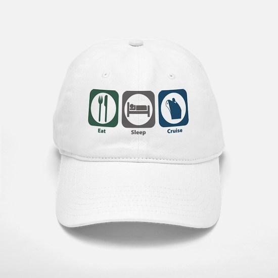 Eat Sleep Cruise Baseball Baseball Cap