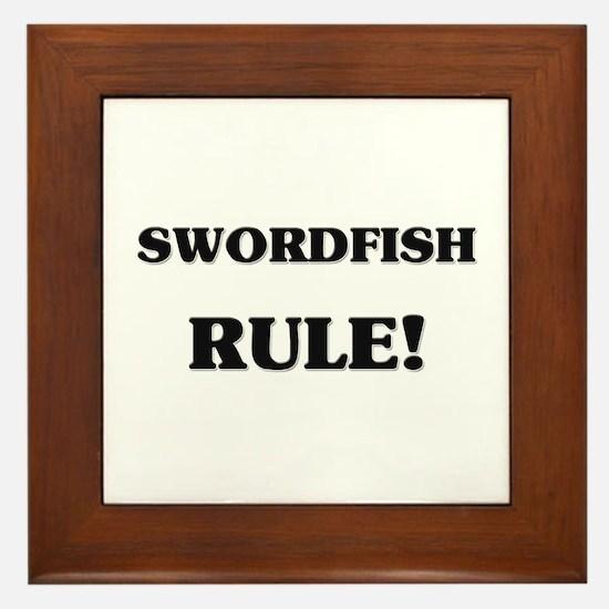 Swordfish Rule Framed Tile