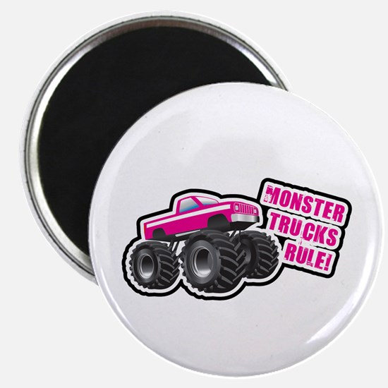 Pink Monster Truck Magnet