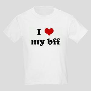 I Love my bff Kids Light T-Shirt