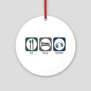 Eat Sleep Crochet Ornament (Round)