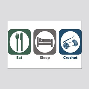 Eat Sleep Crochet Mini Poster Print