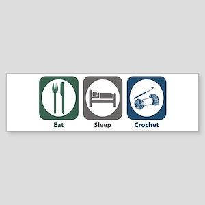 Eat Sleep Crochet Bumper Sticker