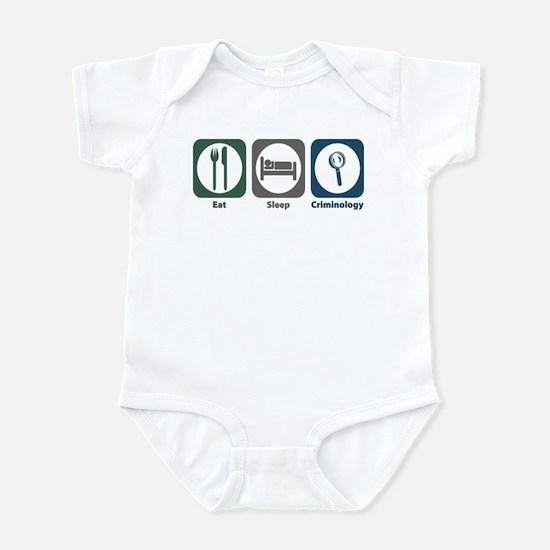 Eat Sleep Criminology Infant Bodysuit
