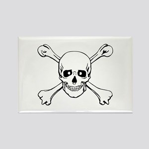 Skull & Crossbones Rectangle Magnet