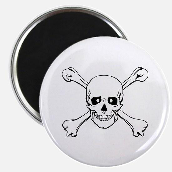 """Skull & Crossbones 2.25"""" Magnet (10 pack)"""