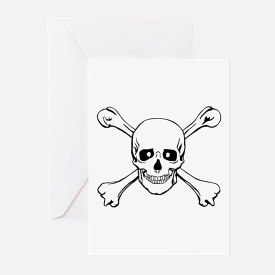 Skull & Crossbones Greeting Cards (Pk of 10)