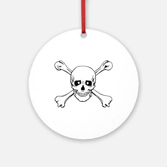 Skull & Crossbones Ornament (Round)