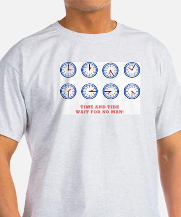 TIME AND TIDE - WAIT FOR NO MAN White T-Shirt