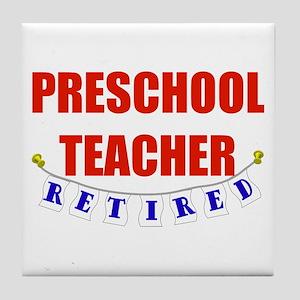 Retired Preschool Teacher Tile Coaster