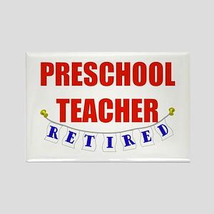 Retired Preschool Teacher Rectangle Magnet