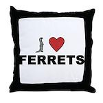 I Love Ferrets Throw Pillow
