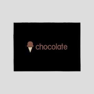 Ice Cream Flavors: Chocolate 5'x7'Area Rug