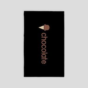 Ice Cream Flavors: Chocolate Area Rug