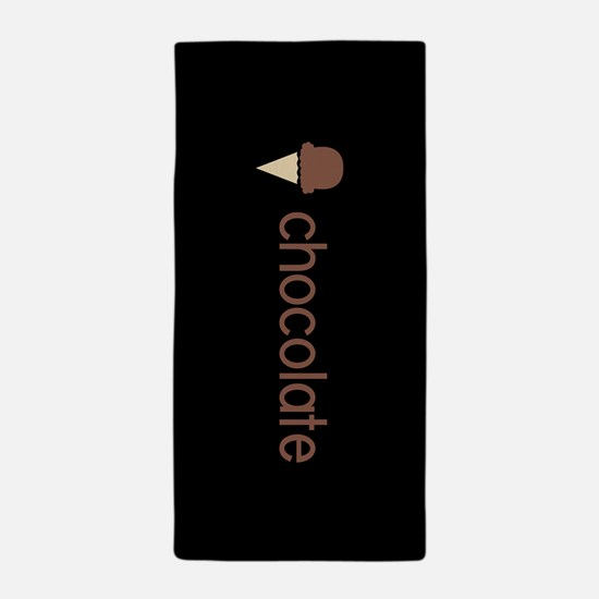 Ice Cream Flavors: Chocolate Beach Towel