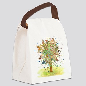 Landscape 466 Tree Canvas Lunch Bag