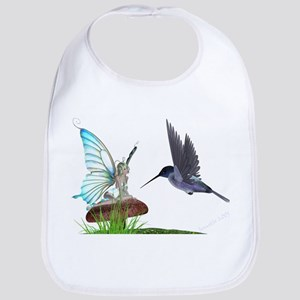 Hummingbird and Fairy Bib
