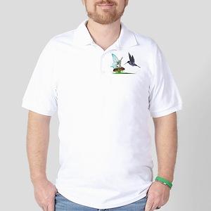 Hummingbird and Fairy Golf Shirt