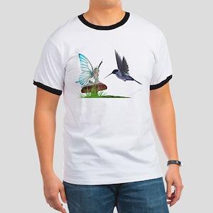 Hummingbird and Fairy Ringer T