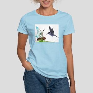 Hummingbird and Fairy Women's Pink T-Shirt