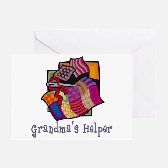Grandma's Helper Quilting Greeting Card