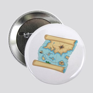 Pirate Treasure Map Button