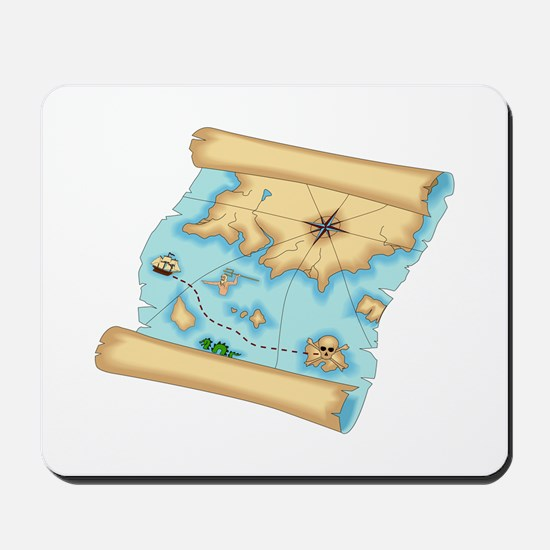 Pirate Treasure Map Mousepad