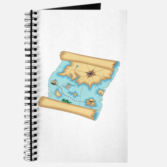 Pirate Treasure Map Journal