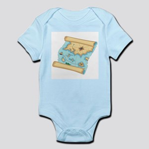 Pirate Treasure Map Infant Bodysuit