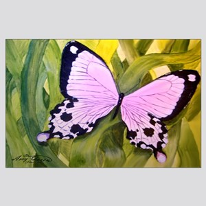 Butterfly in grass Large Poster
