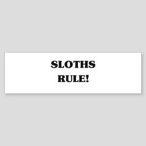 Sloths Rule Bumper Sticker