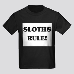 Sloths Rule Kids Dark T-Shirt