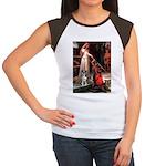 Accolade / Catahoula Leopard Women's Cap Sleeve T-