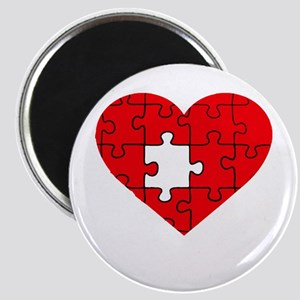 missing puzzle piece heart Magnet