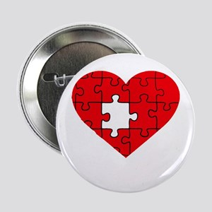 "missing puzzle piece heart 2.25"" Button"