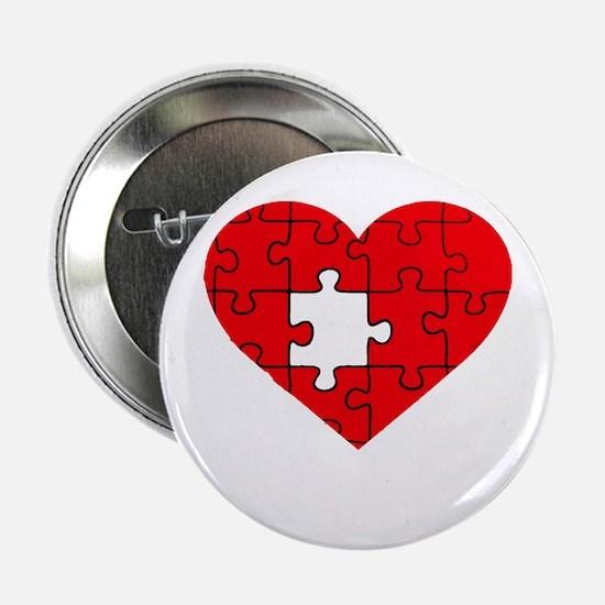 "missing puzzle piece heart 2.25"" Button"