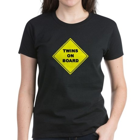 Twins On Board traffic sign Maternity Women's Dark